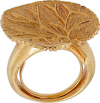 Oscar De La Renta eucalyptus ring - GOLD