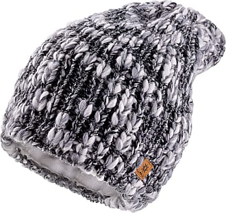 morefaz Set Scarf & Hat Women Winter Beanie Hat Worm Knitted Alpaca Wool Hats Fleece Lining (Platinum Grey)