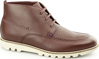 Kickers KYMBO MOCC Mens Leather Moccasin Boot Brown 45