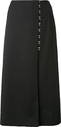 Dion Lee Draped E-Hook midi skirt - Black