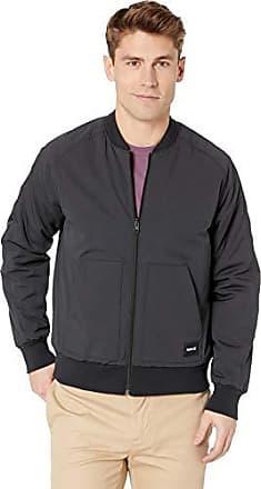 Hurley Mens Indo Souvenir Bomber Jacket, Black, L