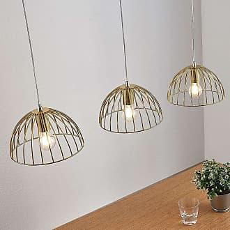 Lampenwelt.com Lámpara colgante tipo jaula Deria, 3 bombillas