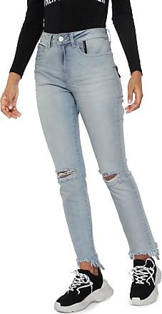 Ellus Calça Jeans Ellus 2ND Floor Skinny Assimétrica Azul