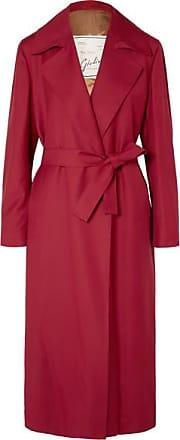 Giuliva Heritage Collection Linda Belted Wool-gabardine Coat - Red