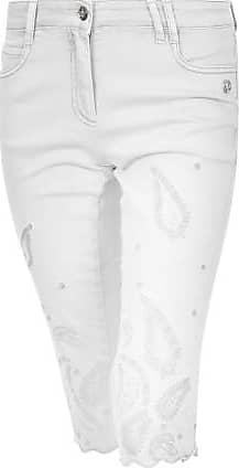 Sportalm Capri Denim Hose mit Paisley-Lochstickerei Größe:34