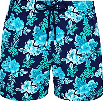 Vilebrequin Marineblaue Moorise Superflex Turtles Flowers-Badeshorts aus Polyamid - navy blue | Polyamide | l - Navy blue
