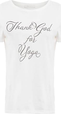 Yogini Camiseta Co Orgânico Thank God - Off White