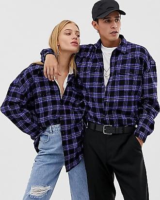 Collusion Unisex oversized check shirt - Multi