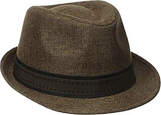 826c659a252e7 Henschel Mens Low Crown Fedora with Fancy Stitch Band and Loop, Brown,  Medium