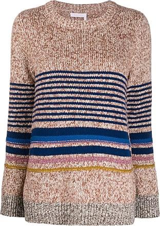 See By Chloé Suéter de tricô com listras horizontais - Neutro