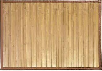 InterDesign Formbu Bamboo Floor Mat Non-Skid, Water-Resistant Runner Rug for Bathroom, Kitchen, Entryway, Hallway, Office, Mudroom, Vanity, 17 x 24, Natural Beige