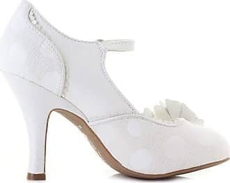 Ruby Shoo Womens White Silver Antonia Mary Jane Occasion Heels UK 9