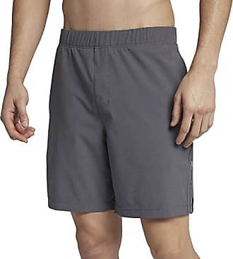 Hurley Mens Elastic Waist 20 inch Alpha Trainer Short, Dark Grey Black, S