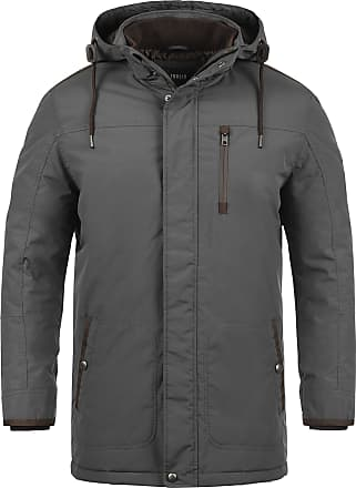 Solid Dempsey Mens Parka Outdoor Jacket Winter Coat with Hood, Size:M, Colour:Dark Grey (2890)