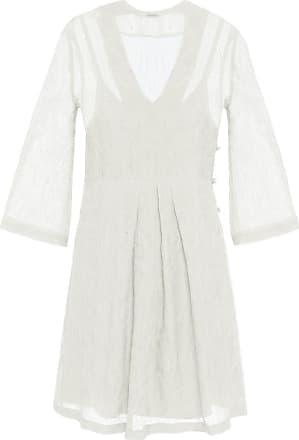 The Crocale Ada Silk Mini Dress Ecru