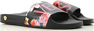 Versace Sandals for Women On Sale, Black, PVC, 2017, 10 7 9