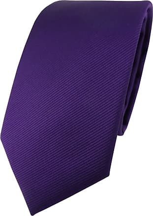 TigerTie Designer Tie in Plain Single Colour - Rep Structure - Purple