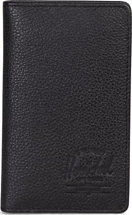Herschel Frank Rfid Wallet aus schwarzem Leder mit Pebbled-Material - Black