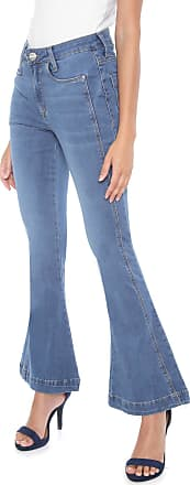 Hering Calça Jeans Hering Flare Cropped Lisa Azul