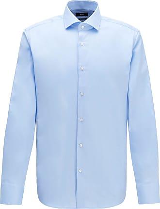 HUGO BOSS ENZO US BLACK LABEL DRESS SHIRT REGULAR FIT SPREAD COLLAR  BLUE NWT