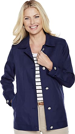 Chums Ladies Womens Blouson Style Lightweight Jacket Coat with Piping Navy 14