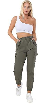 Parsa Fashions Women Italian Pocketed Trouser (12-14, Khaki)