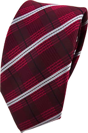 TigerTie narrow TigerTie tie necktie in red wine red gray black striped - necktie