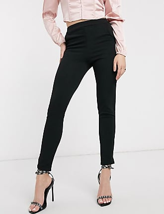 I Saw It First high waisted skinny trousers-Black