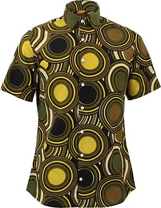 Loud Elephant Regular Fit Short Sleeve Shirt - Retro Circles (16.5 / 42cm / Large)