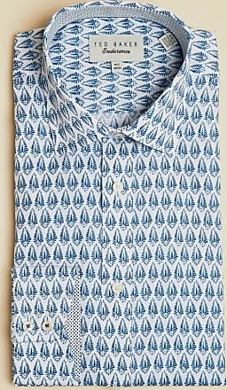 Ted Baker Feather Print Endurance Shirt in Blue SEWELPA, Mens Clothing