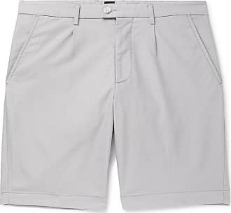 1dbc5bf7 HUGO BOSS Slice Slim-fit Cotton-blend Jacquard Shorts - Light gray