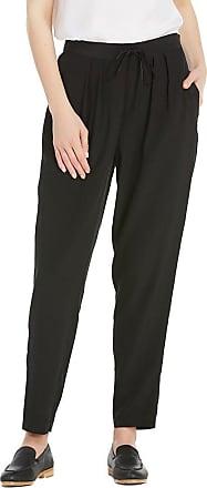LilySilk Womens Silk Wide Leg Trousers Pants Bottoms Ladies Summer 16 Momme Pure Silk Black Size XL