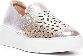 Wonders A-8324 Slip-On Sneaker Silver Size: 6 UK