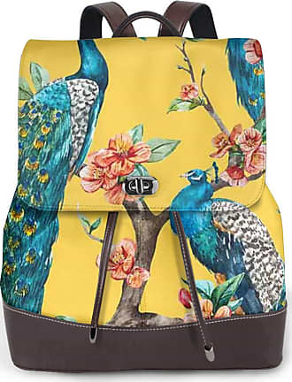Not Applicable Clothing Peacock Women Fashion Genuine Leather Backpack Girls Travel School Mini Shoulder Bag