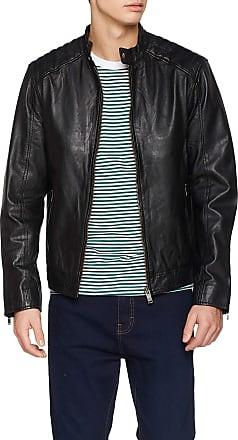 Selected Homme Mens Slh R-03 Racer Leather JKT W Noos Jacket, Black, Large