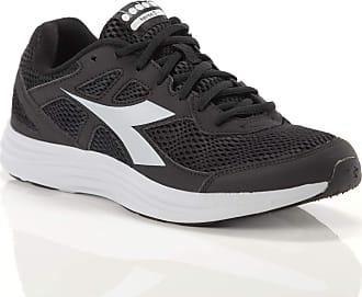Diadora Men, Heron 3, Mesh, Sneakers, Black Black Size: 10.5 UK