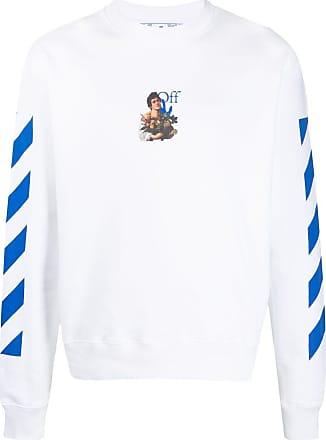 Off White Print Loses Langarm-Sweatshirt