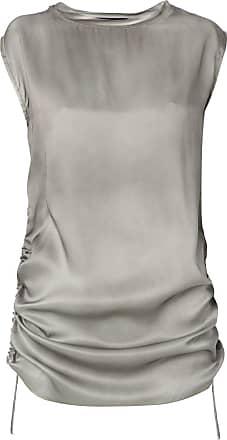 Uma Blusa de seda - Cinza