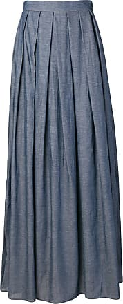Ultra Chic pleated maxi skirt - Blue