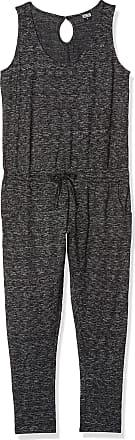 Urban Classics Womens Ladies Melange Jumpsuit, Multicolour (Dark Grey/Black 864), XL