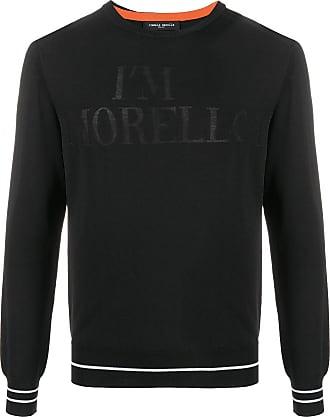 Frankie Morello Suéter mangas longas com estampa de slogan - Preto