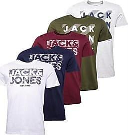 Jack & Jones five pack short sleeve jersey t-shirts