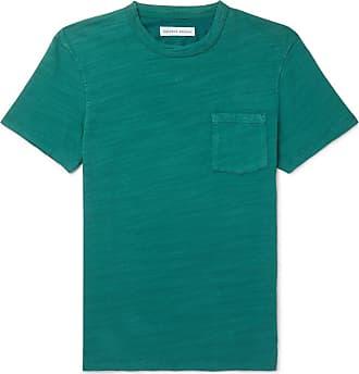 Orlebar Brown Sammy Ii Garment-dyed Slub Cotton-jersey T-shirt - Green