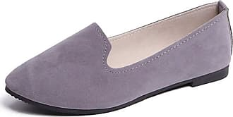 Vdual Ladies Womens Casual Flat Slip on Comfort Walking Summer Pumps Imitation Leather Shoes UK 2.5- UK 8.5 Grey