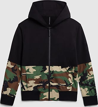 Blackbarrett Camo Blocking Ringback Zip-up Hoodie