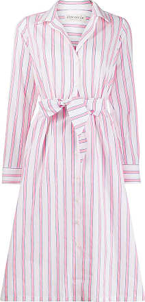 être cécile Lauren striped shirt dress - PINK