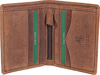 VISCONTI GENTS OIL BROWN LEATHER SLIM BIFOLD WALLET GIFT BOXED NEW STYLE 705
