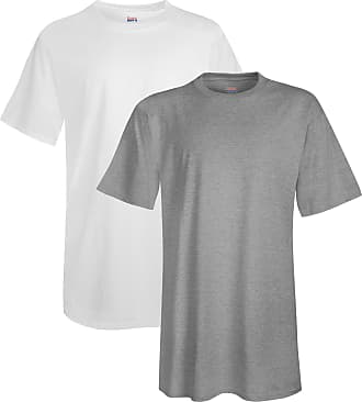 Hanes Mens Tall Short-Sleeve Beefy T-Shirt (Pack of Two)