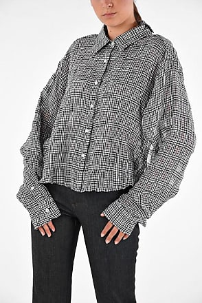 Unravel Checked Distressed Blouse size 42