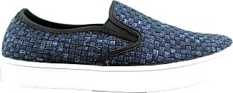 bernie mev. Womens Verona Woven Slip-On Sneaker (Jeans/White Sole, 4)